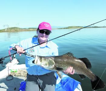 Denise Kampe took this Kinchant barra on a Shads Lures Jew Candy.