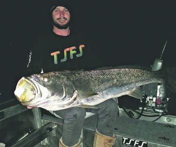 Jake Stewart with a 20kg mulloway.
