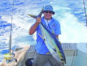 Fishing the tides in and out will see you come across a variety of fish, including this weejock wahoo.