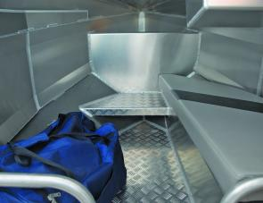 The bunk within the Profile's cuddy allows to adults to sit or a youngster to lay down.