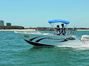 The new 6400 Yellowfin Synergy is a very trim looking craft.