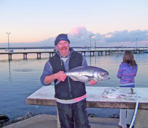 Portland local Andrew Youren caught this blue eye trevalla out at the Continental Shelf.