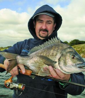 This 47cm bream was taken in the Hopkins River.
