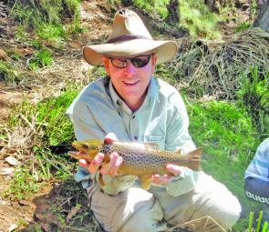 Peter Byron with a well-marked little brown he caught last trout season. Let's hope we can get some more like this in the 2010-11 season.