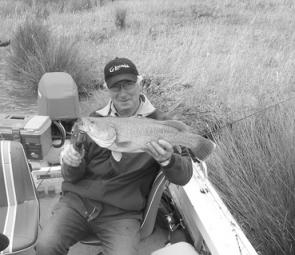 The author's first cod from Lake Eildon was released after a few snapshots.