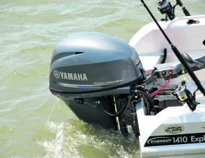 The 40 Yamaha four stroke proved to be both smooth and powerful.