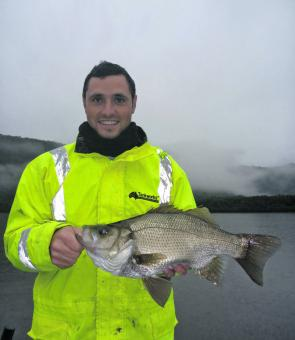 This 48cm estuary perch was a welcome by-catch for Will.