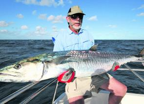 This is the way to open the account! Wally's first ever mackerel was caught on a deep-diving Rapala X-Rap on the outer Barrier Reef.