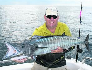 Wahoo can be mackerel by-catch and often frequent the same reefs.