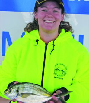 Champion lady angler Kerry Webley also caught five of the seven chosen species.