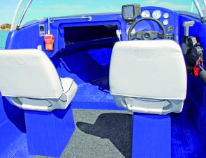 The Polycraft's seat boxes are robust, with handy storage within.