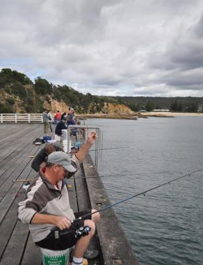 Tathra Wharf is a popular spot in Summer. Get there early to secure your favourite spot.