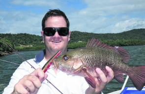 Michael Starr caught this aggressive jack while trolling in the Johnstone River recently.