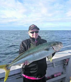 Ange with a cracking kingfish taken on a 'research' mission to NSW.