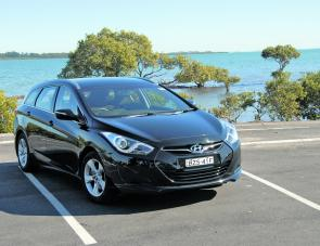 Distinctive European styling gives the Hyundai i40 considerable road presence.