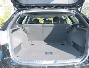 The i40's boot converts from a very large 553L capacity to an even larger 1719L when the rear seats are folded.