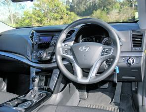 The Hyundai's dash layout is ergonomically simple but extremely effective.