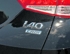 The badging is quite modest, but a drive reveals what potential the i40 has.