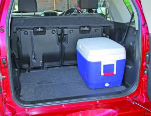 With the rear seat forward the three door Grand Vitara's cargo area goes to 964L.