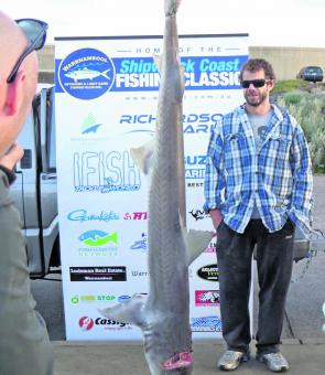 Jason Twaddle was 2014 winner of the largest gummy shark category with a fish of 21.35kg.