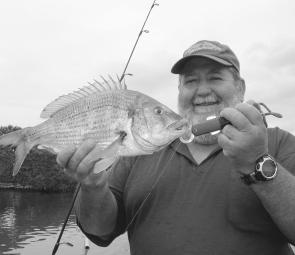 Stud bream like this quality fish are regular captures in the Bega River.