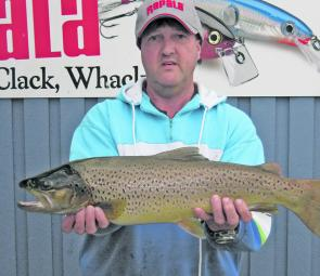Dave Wilson had plenty of fun with this 1.8kg brown trout.