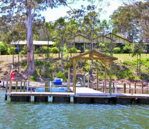 With its own private jetty, hire boats and boat ramp, secluded Wonboyn Lake Resort is a great place to stay.