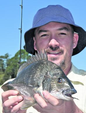 Black bream are prime targets in the shallows with soft plastics and bait.