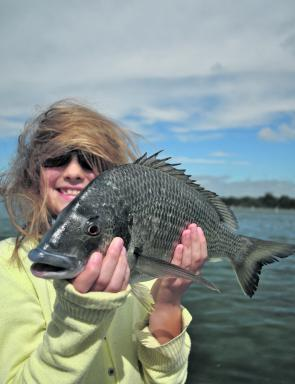 Yellowfin bream are also worthy quarries in the clear shallows.