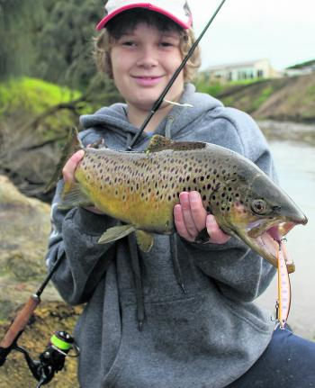 River dwelling brown trout should still be a good option far later into the season than usual.