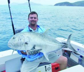 Trevally are not particularly fussy and are attracted more to the movement of the lure than to any particular colour.