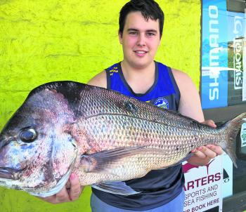 Jarrod Ward and his 6kg land-based reef donkey!