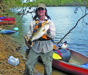 Expedition leader, Terry McClelland, with a typical freshwater barra.