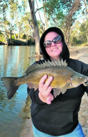 Tanya Cannon with her 46cm silver perch that she caught recently.