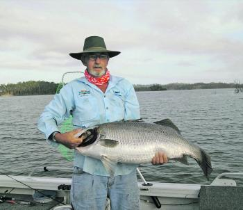 Reg with a 107cm barra caught trolling the main basin.