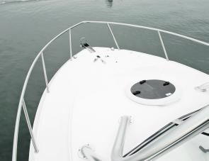 The SeaFox 256 Voyager's front deck is large enough to spread out and take a nap.
