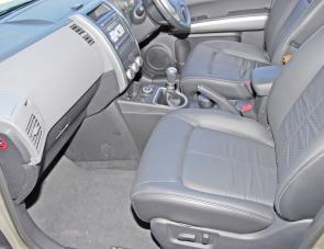 Leather seats and trim plus power seat adjustment are part of the Ti package