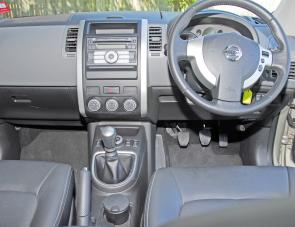 The X-Trail's dash is now driver orientated, a bonus being the dash shelf up top.