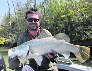 A nice barra caught luring in one the big Gulf rivers.
