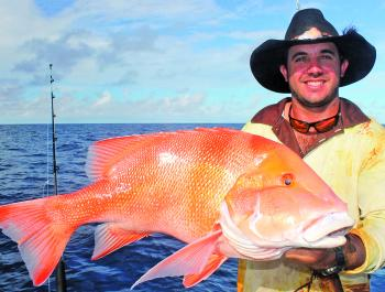 Zach Reid with a nice red emperor – these fish are still on offer this month.