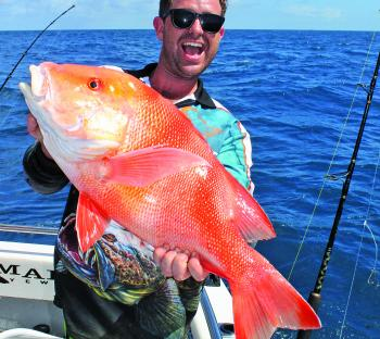 Alex was very happy with his red emperor, caught on a deep shoal wide of the islands