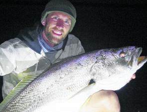 Jack Van Delft with a better than average Richmond River mulloway.