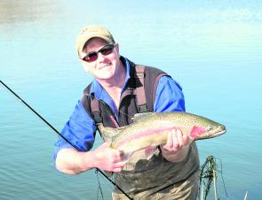 A prime rainbow trout taken near Ballarat to the west of Melbourne.