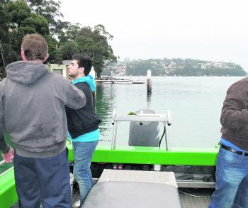 Scotty Lyons from Southern Sydney Fishing Tours holds luderick classes on the Port Hacking during winter.