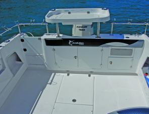 This is an angler's big under floor storage compartments and ample gunwale height are sure to be appreciated.