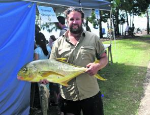 Golden trevally are a favourite of anglers in and around Burrum Heads and this is the calibre needed to take out a section win at the event.