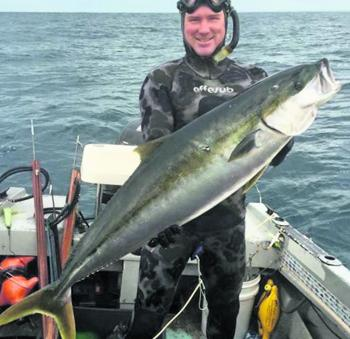 Aaron Crocombe with a great Victorian kingfish.