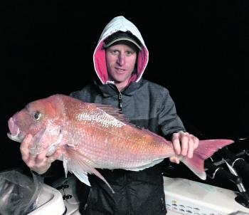 Dale Smith with his personal best snapper.