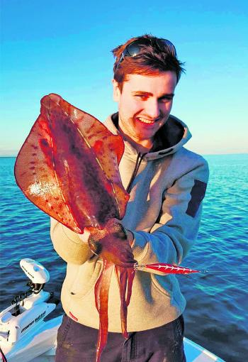Nathan Peterson with a fine Tyabb calamari.