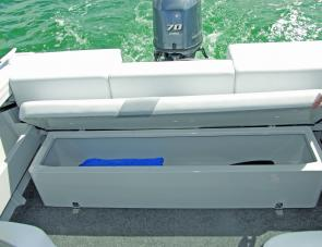Ample storage was offered under the well padded aft bench seat.